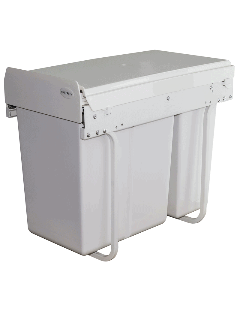 30L Slim Twin Slide Out Kitchen Waste Bin KRB30 | Waste Solutions ...