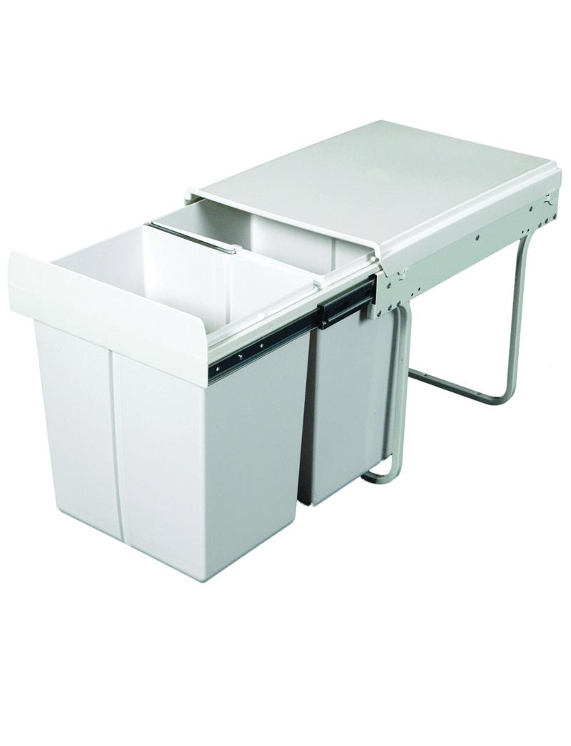 40L Twin Slide Out Kitchen Waste Bin KRB31   Waste Solutions ...
